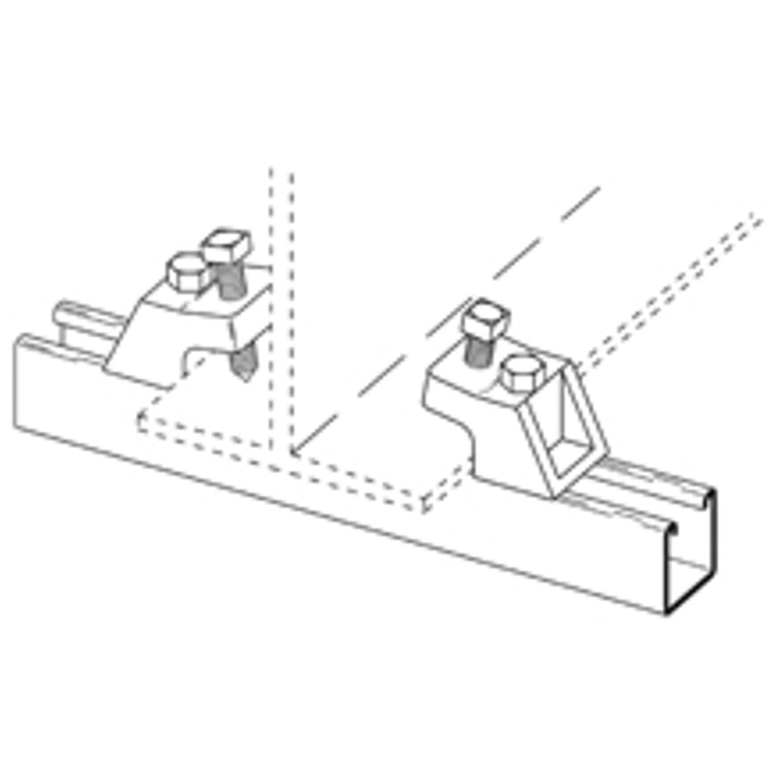 malleable iron Cooper B-Line B213ZN I Beam clamp 1//2 inch setscrew