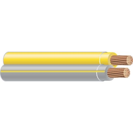 Southwire-12 STR 2/C CU THHN SIM PARALLEL YELLOW/GRAY-YELLOW 1000 FT