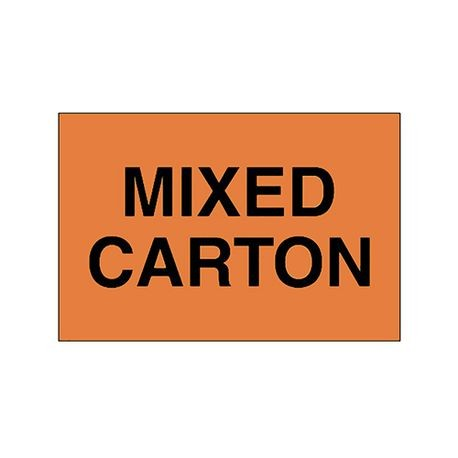 "LABELS ""MIXED CARTON"""